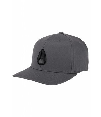 Nixon Deep Down Flex Fit Charcoal and Black Hat