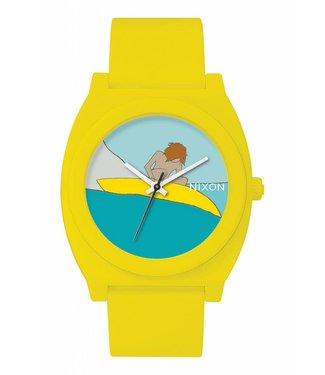 Nixon Time Teller P Andy Davis Yellow Watch