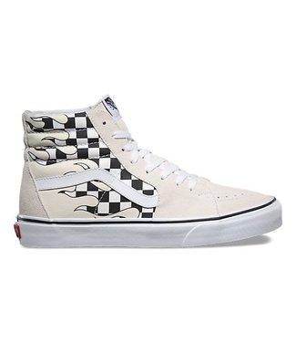 Vans Checker Flame Sk8-Hi Shoes