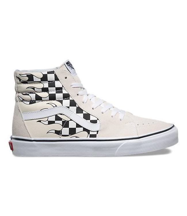 Vans Checker Flame Sk8-Hi Shoes  318e0be70