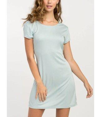RVCA Wallflower Cloud Blue T-Shirt Dress