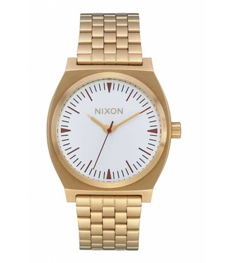 Nixon Time Teller Gold and Saddle Watch