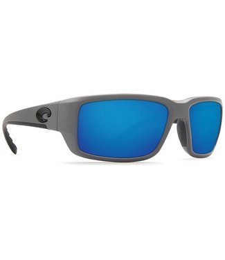 Costa Del Mar Fantail Matte Gray 580G Blue Mirror Lens Sunglasses