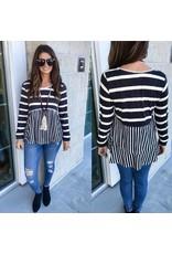 Striped Top - Black