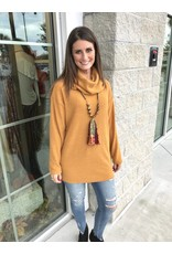 Cowl Neck Sweater - Mustard