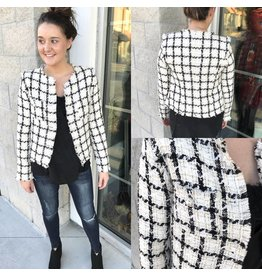 Tweed Checker Jacket - Off White