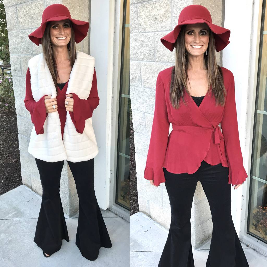 Wrap Top - Red