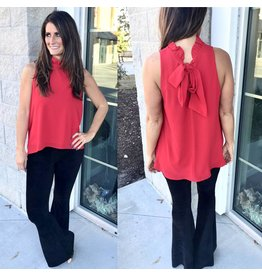 Ruffle Detail Top - Red