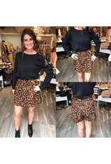 Leopard Skort - Brown