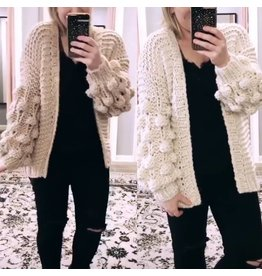 Bubble Sleeves Cardigan