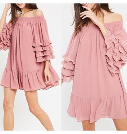 Ruffle Detail Dress - Ginger