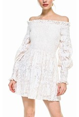 TCEC Off Shoulders Floral Dress - Cream