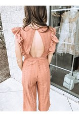 BlueBlush Ruffle Detail Jumpsuit - Terracotta
