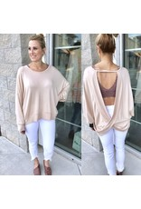 Open Back Top - Taupe