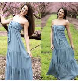 Bow Detail Maxi Dress - Dove