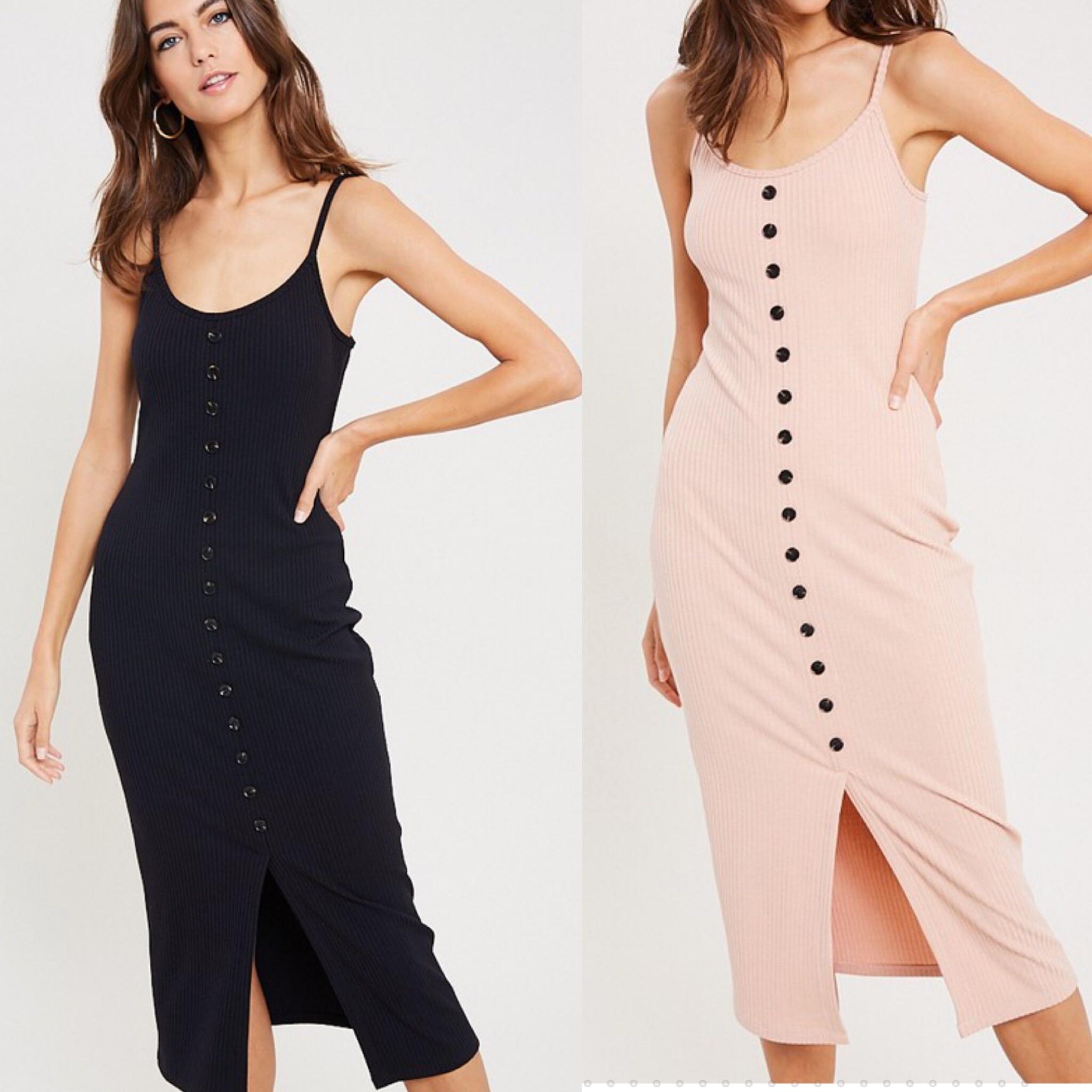 Button Down Midi Dress
