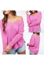 Lightweight Sweater - Magenta
