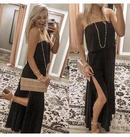 Off Shoulders Maxi Dress - Black