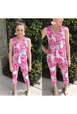 Floral Capri Pants - Pink