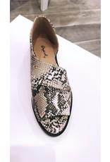 Qupid Sting Sandals - Snake Skin