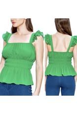 Peplum Top - Green