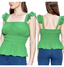 Peplum Top - Green