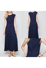 Twisted Front Maxi Dress - Navy