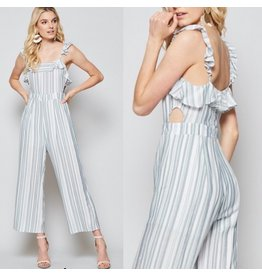 Striped Jumpsuit - Blue