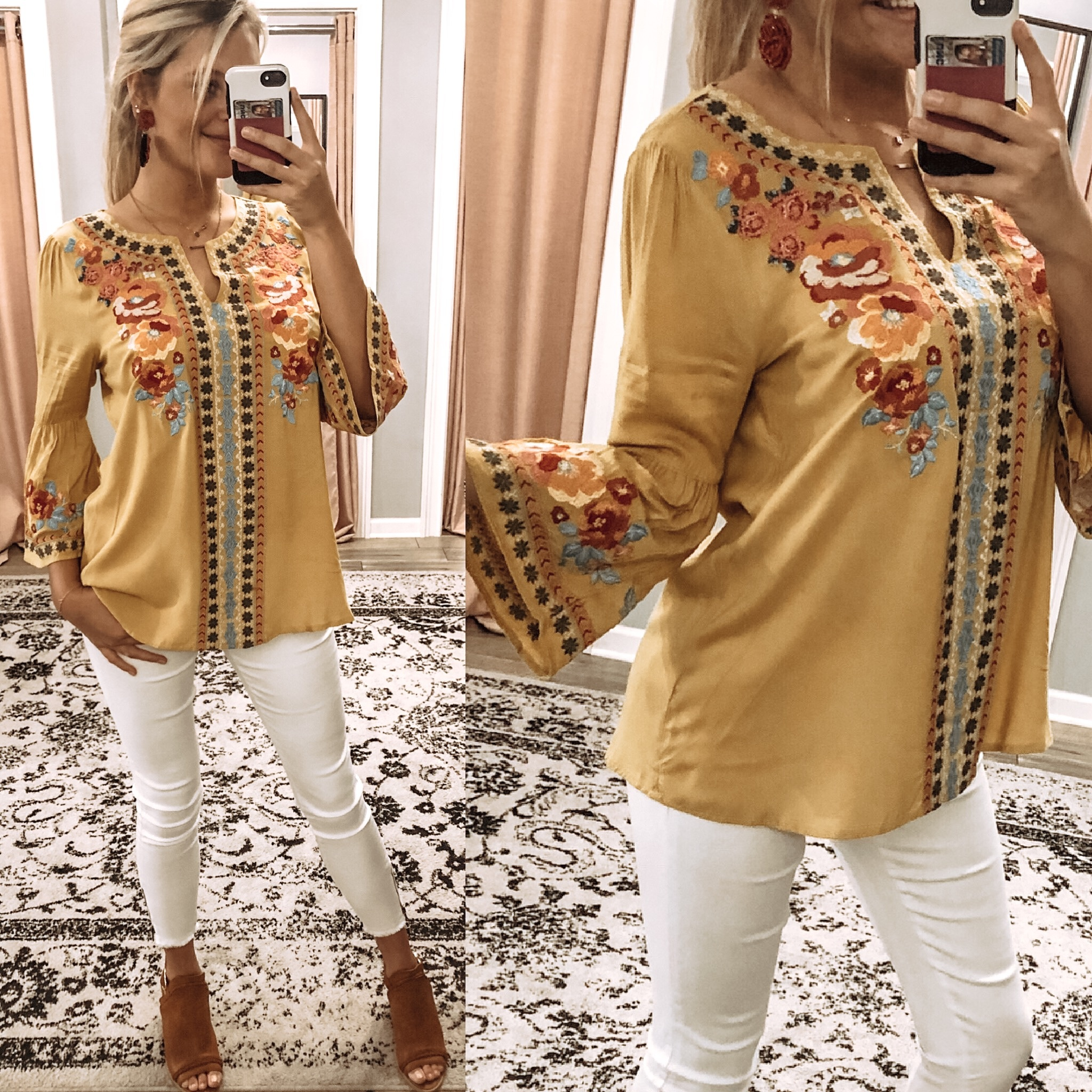 Embroidery Detail Tunic - Marigold