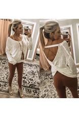 Open Back Lightweight Sweater - Ivory