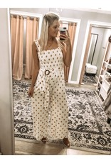 Polka Dots Jumpsuit - Honey