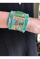 PANNEE B01259 Kleopatra Cuff Bracelet - Mint