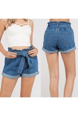 Bow Tie Denim Shorts