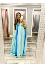 Ombre Maxi Dress - Blue
