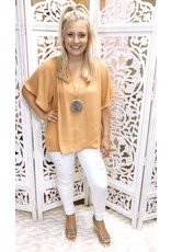 Pleated Blouse Top - Amber