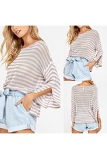 Striped Sweater - Blush