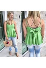 Tie Detail Top - Lime