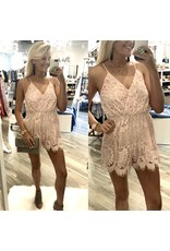 Lace Romper - Blush