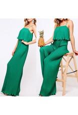 VineLove Pleated Jumpsuit - Green