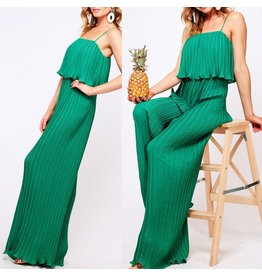 VineLove Pleated Jumpsuit - Green