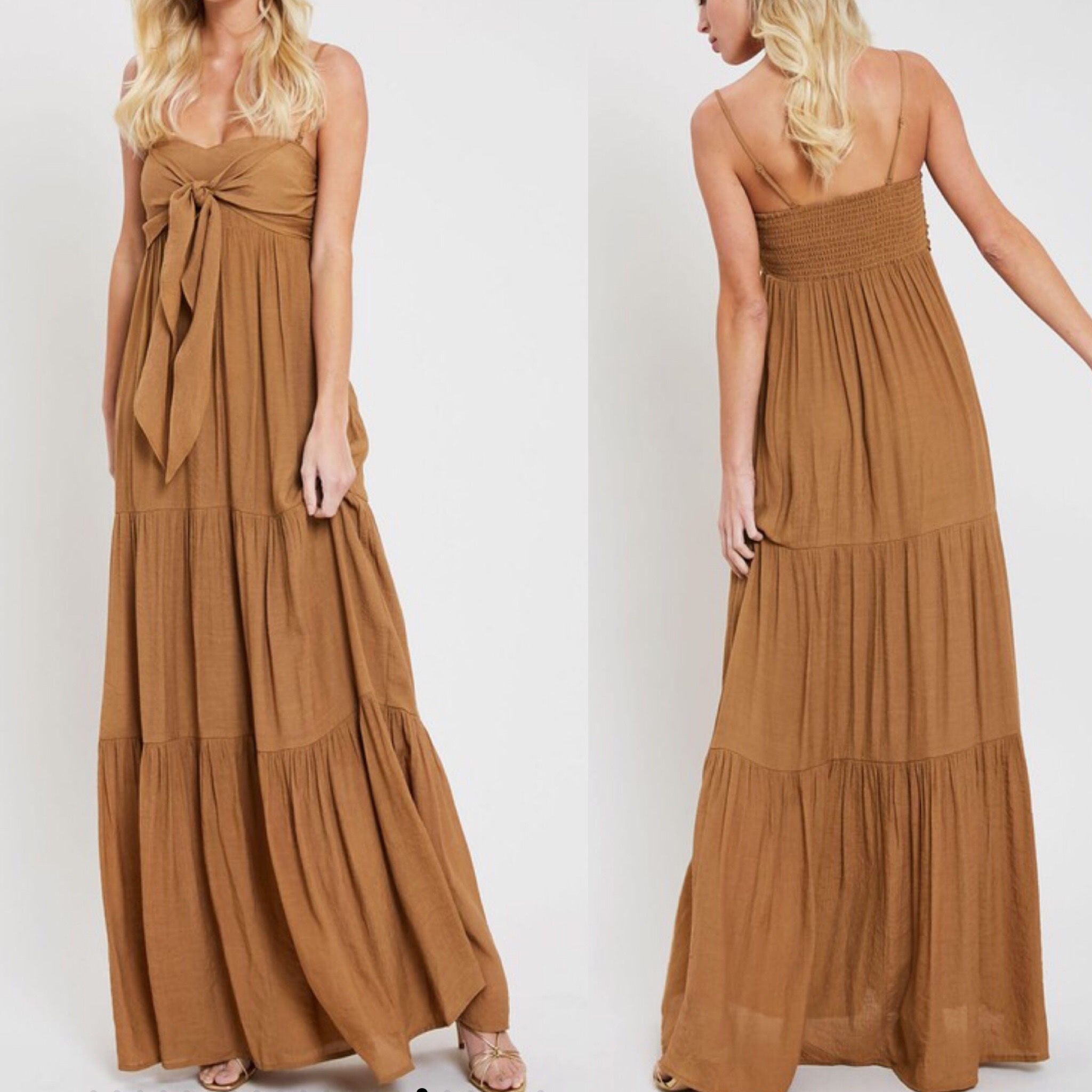 Bow Detail Maxi Dress - Gucci