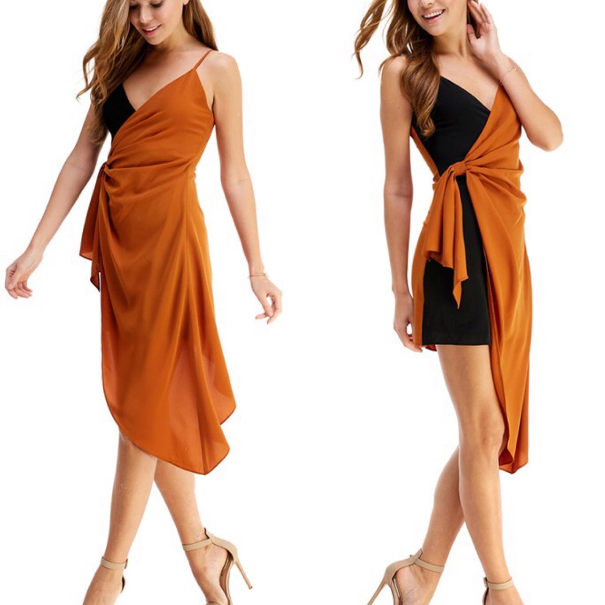 TCEC  Two Tone Dress - Camel