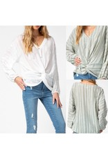 Twisted Front Button Down Top