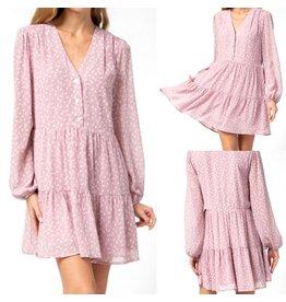 Geo Print Dress - Blush