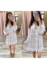 Geo Print Babydoll Dress - Off White