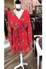 Floral Dress - Red