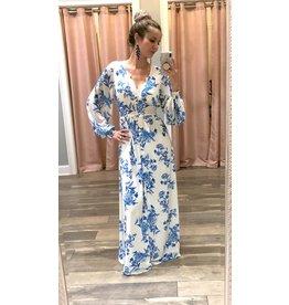 Floral Maxi Dress - Ivory