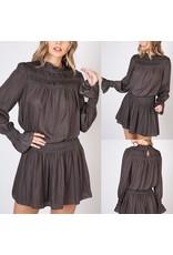 Do+Be Shirring Dress - Charcoal