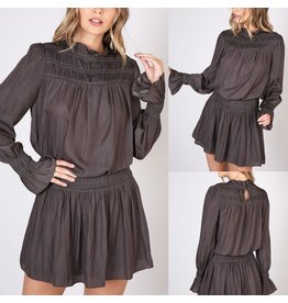 Do+Be Shirring Dress - Charcoal