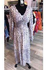 FATE Leopard Midi Dress - Blush